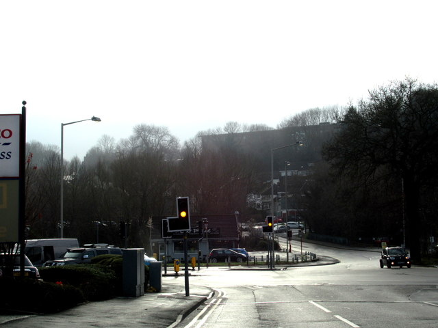 A4099 Bottom of Gorsty Hill Approaching A449