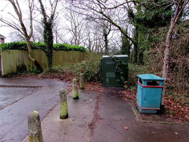 BT telecoms cabinet, Cherry Orchard Road, Lisvane, Cardiff