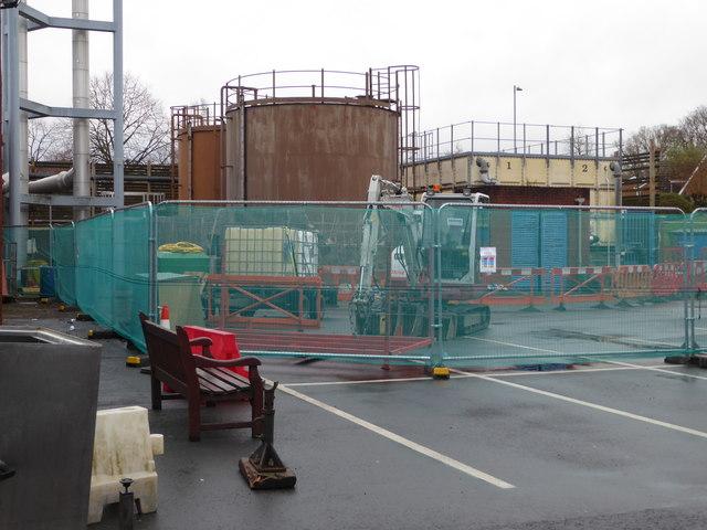 Worcestershire Royal Hospital - fuel oil tanks
