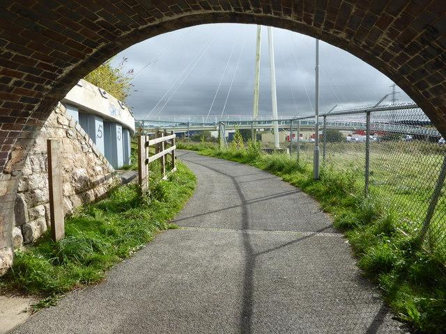Under the railway - Newton Abbot
