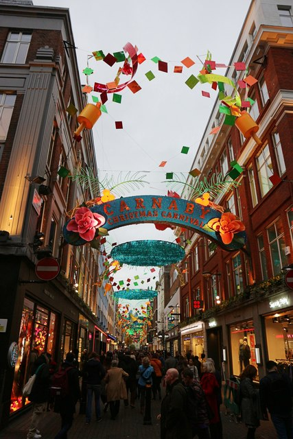 Carnaby Street Christmas decorations 2017