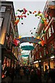 TQ2980 : Carnaby Street Christmas decorations 2017 by Oast House Archive