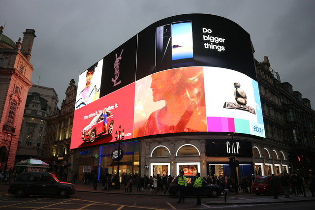 Piccadilly Circus advertising screens
