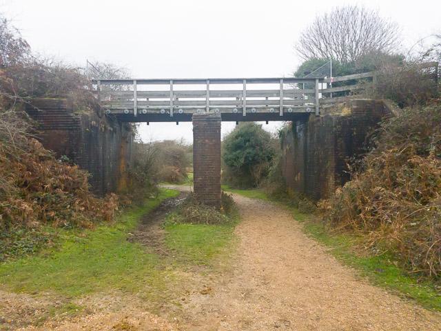 Closed bridge on old railway route