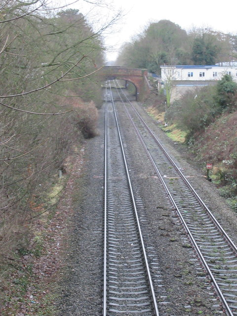 Railway Line South of Worcester Shrub Hill From Perry Hill Overbridge