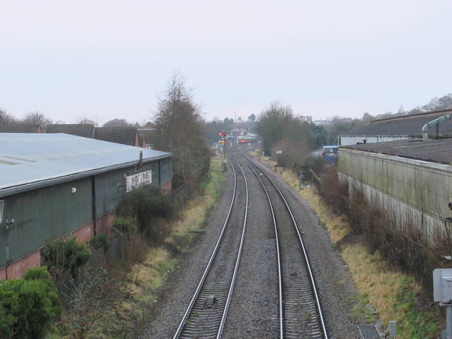 Railway Line Looking Towards  Worcester Shrub Hill From Perry Hill OverbridgeLooking Towards