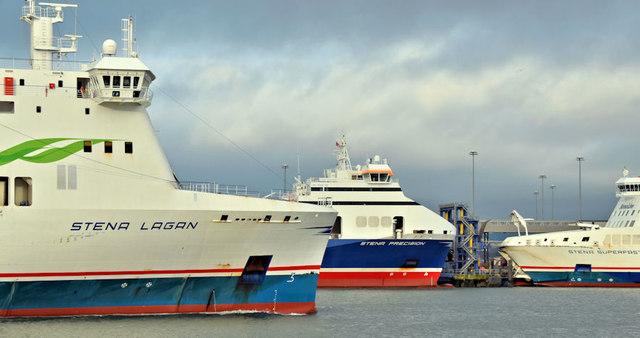 Three Stena ferries, Belfast (December 2017)
