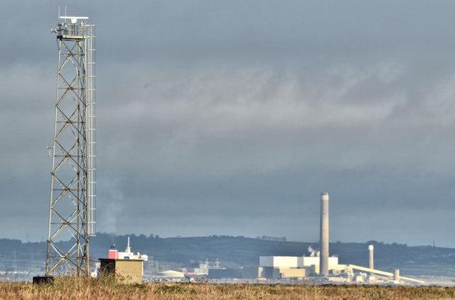 Radar, Belfast harbour (December 2017)