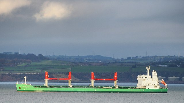 The 'Arklow Spirit' off Bangor