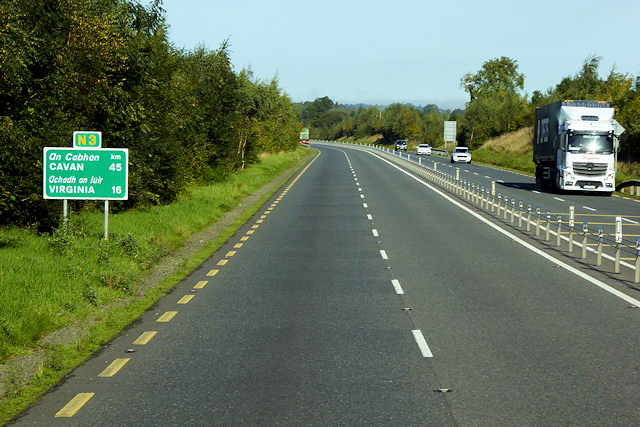 Irish National Primary Route N3 near Drumbaragh