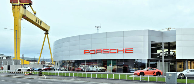 New Porsche showroom, Belfast (December 2017)