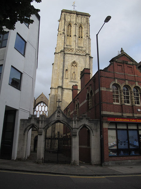 b0f83a162 Tower of the Temple Church, Bristol © Stephen Craven cc-by-sa/2.0 ...