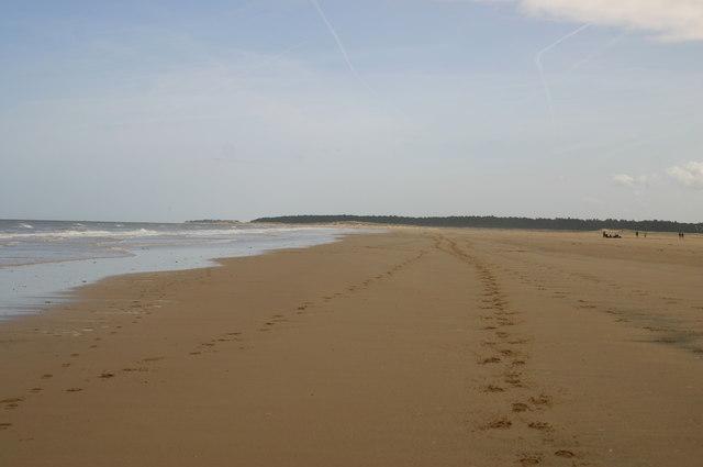 Beach heading to Holkham Gap