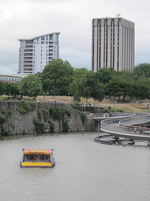 Boat, bridge and blocks