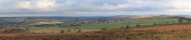 Stocksbridge as seen from Whitwell Moor