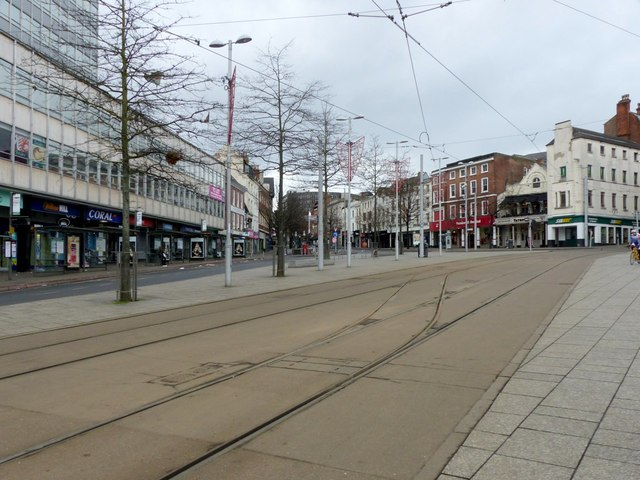 Old Market Square, Christmas Day in the afternoon