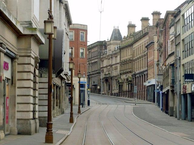 An empty Victoria Street