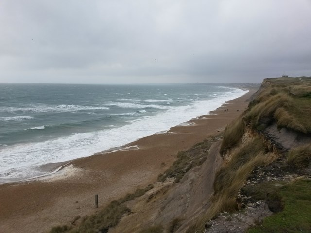 Hengistbury Head: some big Christmas Day waves