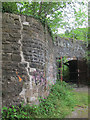 ST5674 : Repaired wall by Stephen Craven