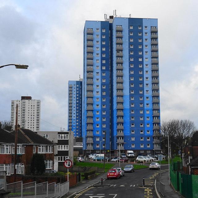 Wednesfield Tower Blocks