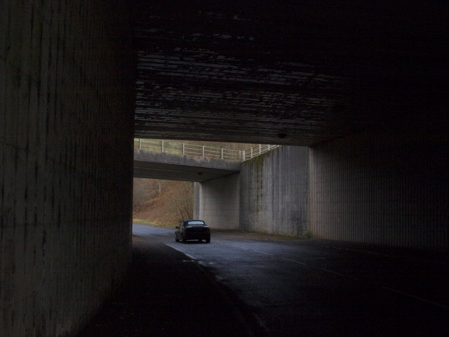 Road under the A82