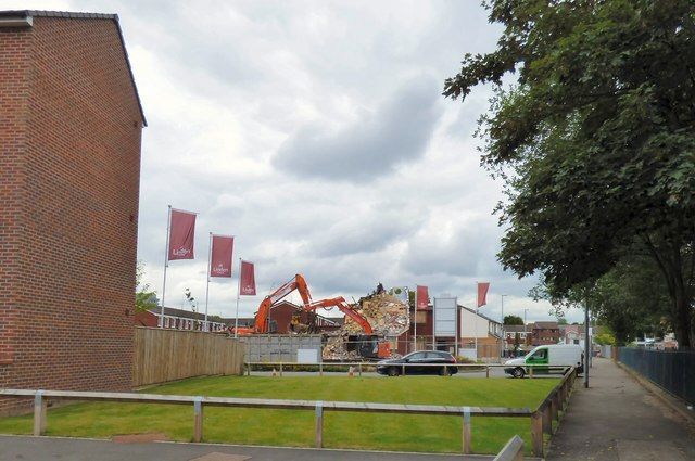 Demolition work on Plymouth View