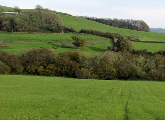 Countryside east of Chilcombe