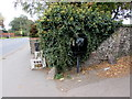 SU1969 : Black Royal Mail drop box on a Marlborough corner by Jaggery