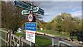 TL2871 : Signpost at Houghton Lock, River Great Ouse by Phil Champion