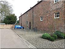 SE5158 : Beningbrough Hall, cycle racks by Stephen Craven