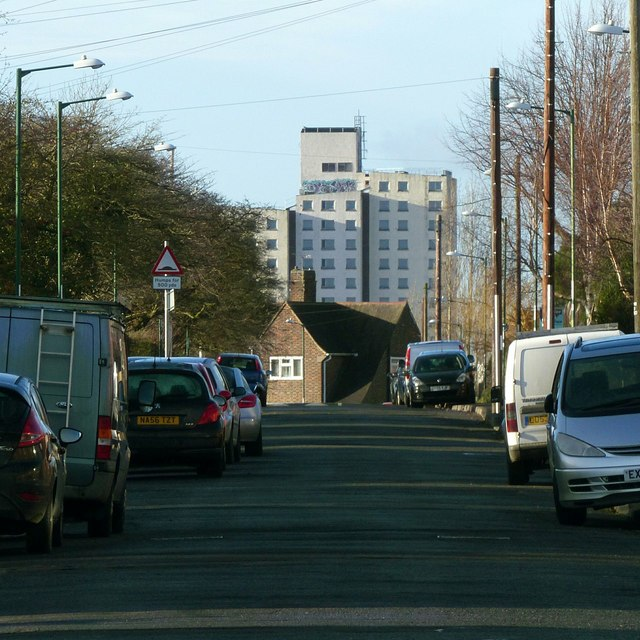 The view along Hereford Road
