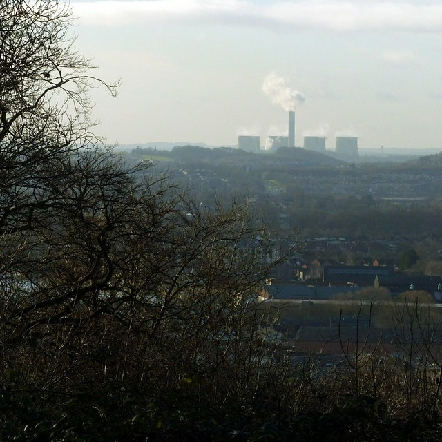 View from Colwick Woods with Ratcliffe Power Station
