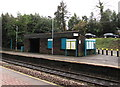 ST1882 : Stone passenger shelter on Llanishen railway station, Cardiff by Jaggery