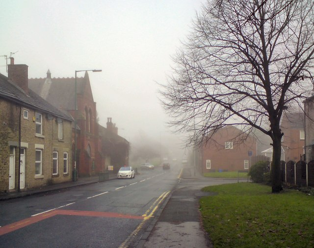 Stockport Road in the mist