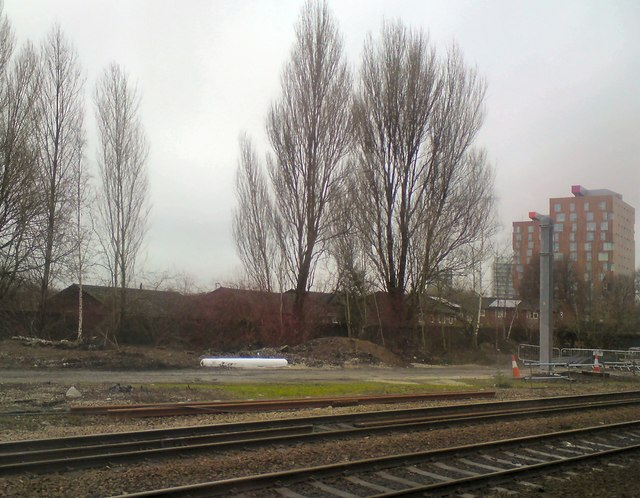 View across the tracks