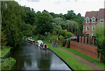 SO8483 : Canal in Kinver, Staffordshire by Roger  Kidd