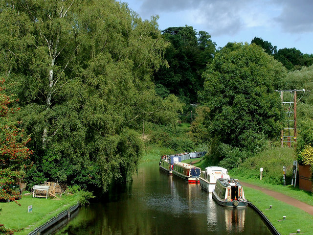 Visitor moorings at Kinver in Staffordshire