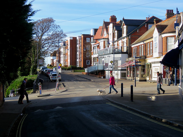 Felixstowe: at the top of Bent Hill