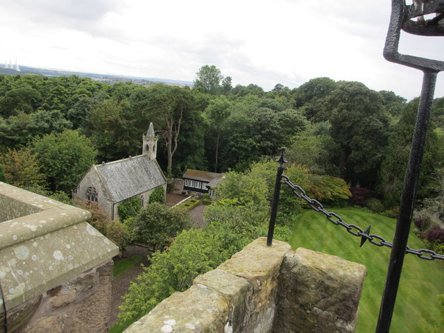 St. Thereota's Chapel, viewed from top of Fordell Castle