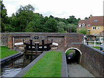 SO8483 : Kinver Lock and Bridge in Staffordshire by Roger  Kidd