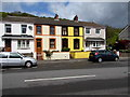 SS7598 : Row of four houses, Church Road, Cadoxton  by Jaggery