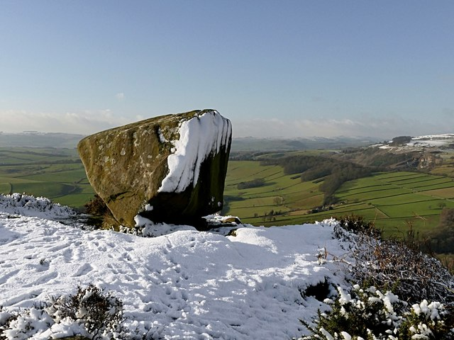 The Anvil Rock on Baslow Edge