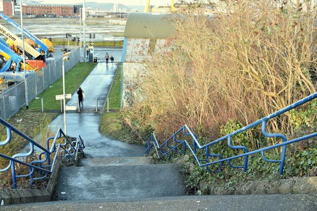 Path, Titanic Quarter station, Belfast - December 2017(1)