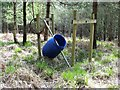 TQ7920 : Abandoned deer feeder, Brede High Woods by Patrick Roper