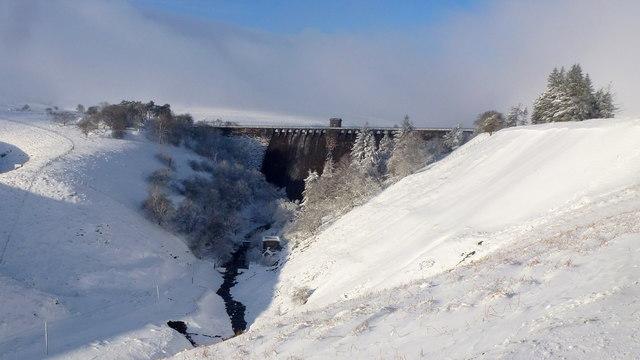 The Grwyne Fawr Reservoir dam, 1