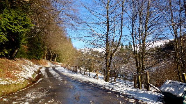 Grwyne Fawr valley road