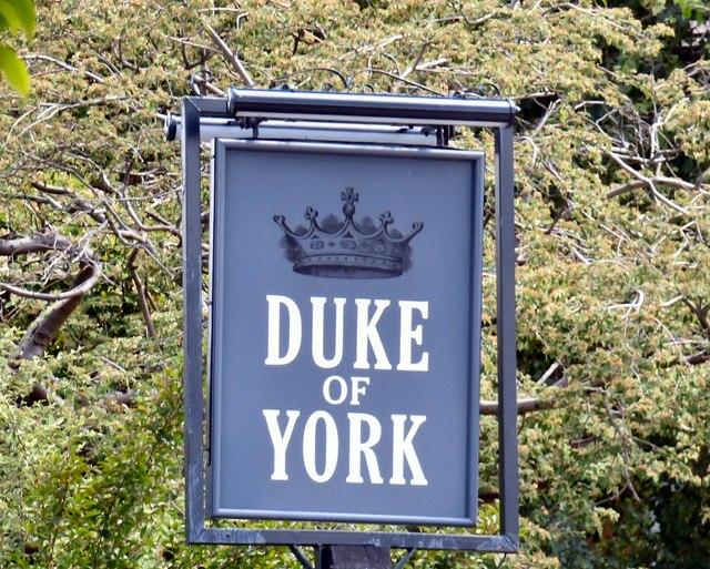 Sign of the Duke of York