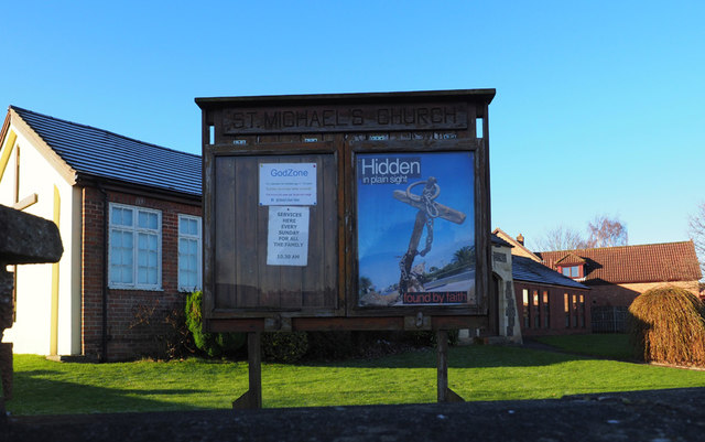 St Michael, Tollerton - Noticeboard