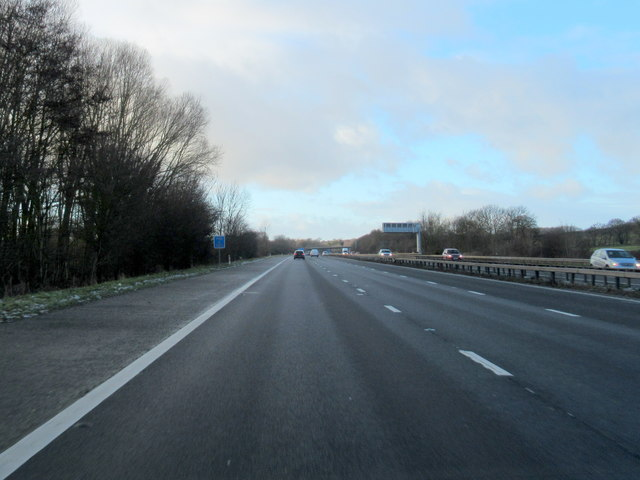 M40 Motorway North of Junction 15