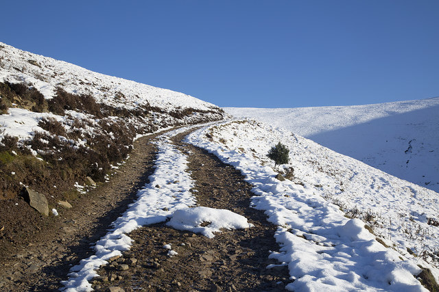 An access track on Foulshiels Hill